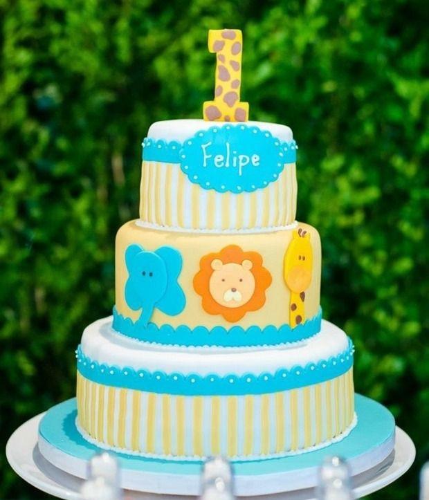 Geburtstagstorte 1 Jahr Junge  Schöne Torte für den ersten Geburtstag von Felipe