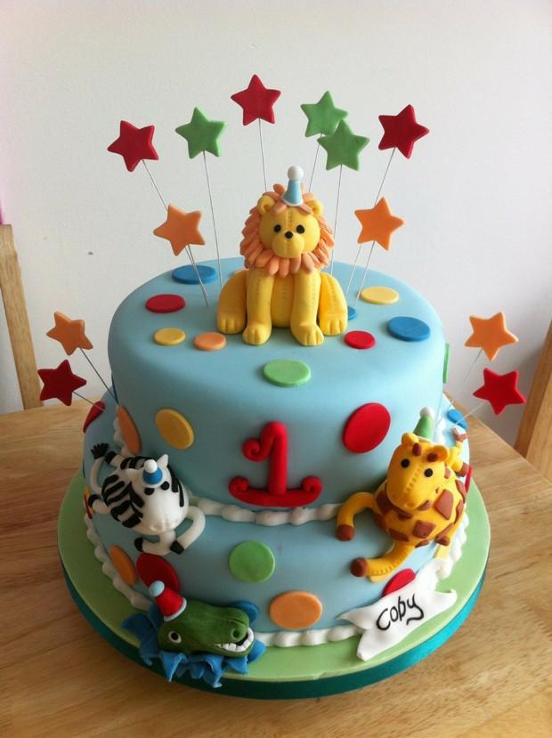 Geburtstagstorte 1 Jahr Junge  Ideen für Motivtorten 55 Kuchen für Babys 1 Geburtstag