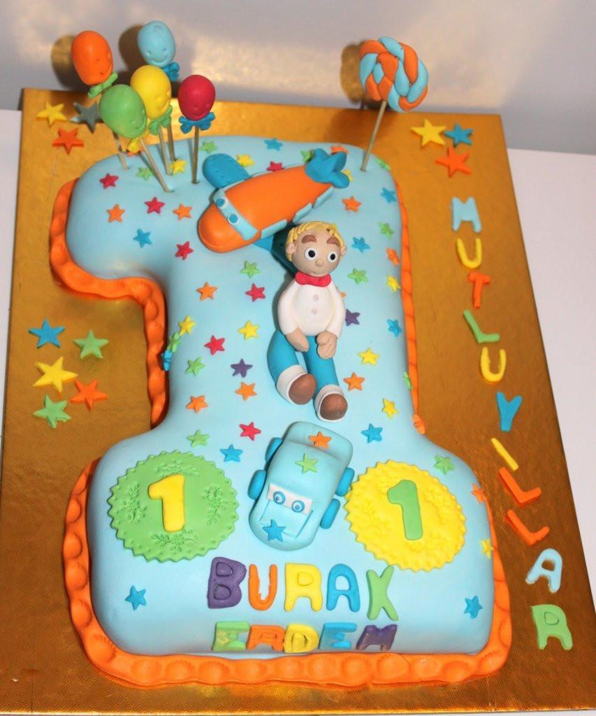 Geburtstagstorte 1 Jahr Junge  Geburtstagstorte 1 Geburtstag Junge Geburtstagstorte