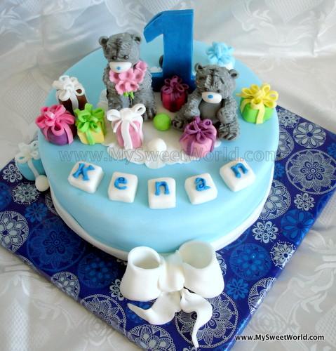 Geburtstagstorte 1 Jahr Junge  Teddys Geburtstagstorte – mysweetworld