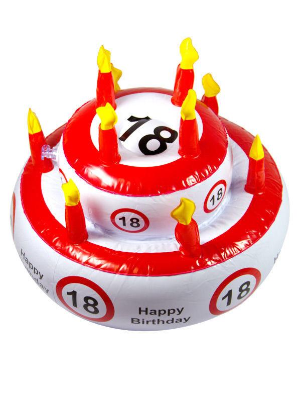 Geburtstagstorte 18 Geburtstag  18 Geburtstag Geburtstagstorte aufblasbar weiss rot schwarz