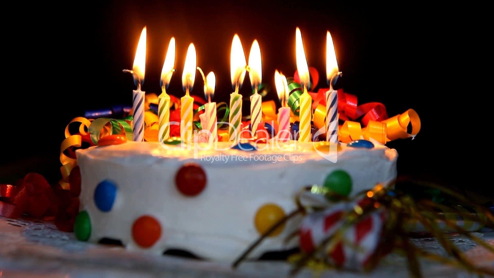 Geburtstagstorte  Geburtstagstorte Lizenzfreie Stock Videos und Clips