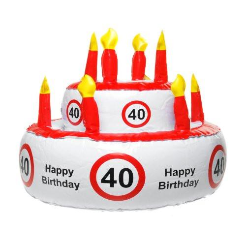 Geburtstagstorte 40  Geburtstag Geschenke Aufblasbare Geburtstagstorte 40