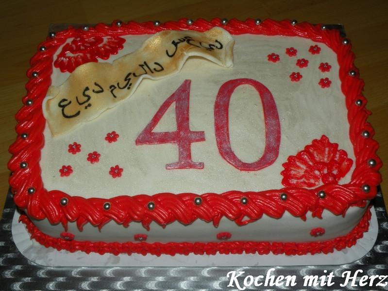 Geburtstagstorte 40  Kochen mit Herz Meine Motivtorten