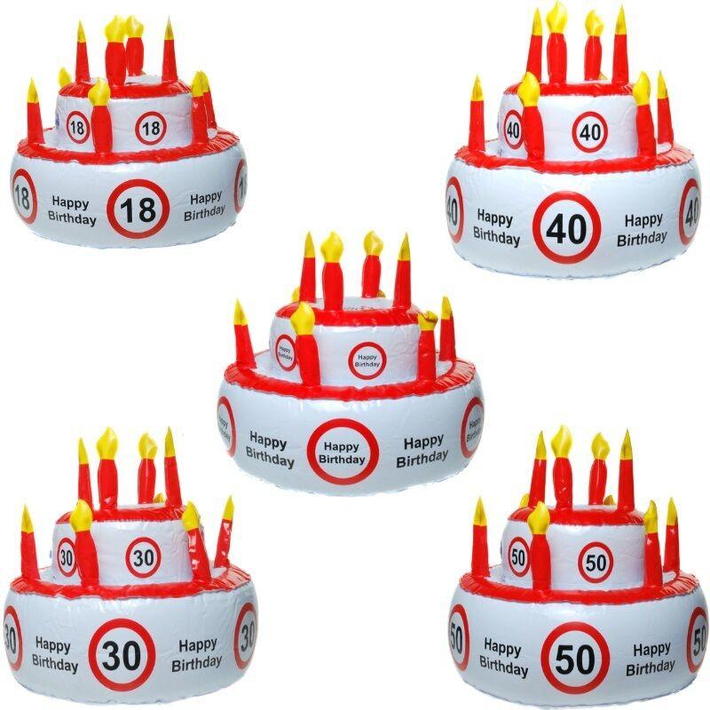 Geburtstagstorte 40  AUFBLASBARE TORTE Happy Birthday 18 30 40 50 60