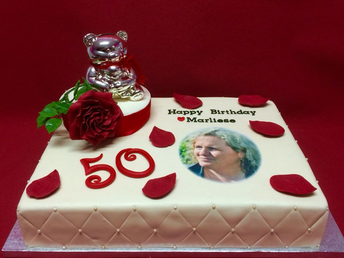 Geburtstagstorte 50 Geburtstag  50 Geburtstagstorte mit Rosenblume