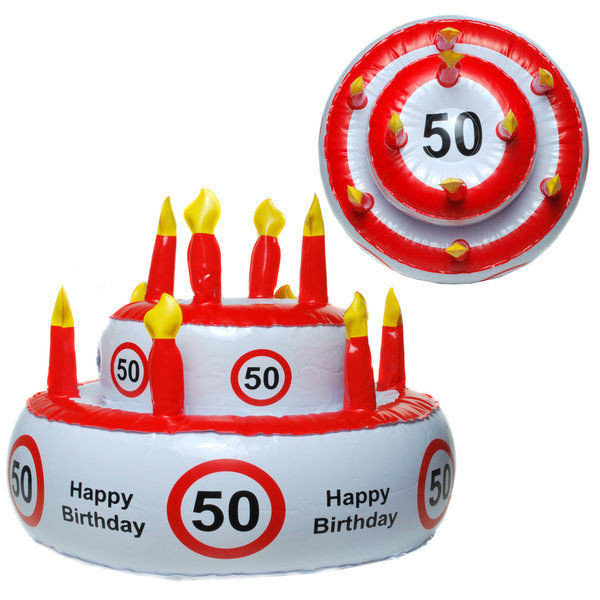 Geburtstagstorte 50 Geburtstag  50 Happy Birthday Aufblasbare Torte Geburtstagstorte