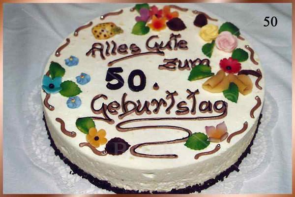 Geburtstagstorte 50 Geburtstag  Bäckerei Busch
