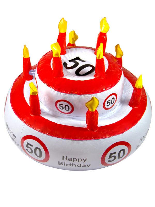 Geburtstagstorte 50 Geburtstag  50 Geburtstag Geburtstagstorte aufblasbar weiss rot schwarz