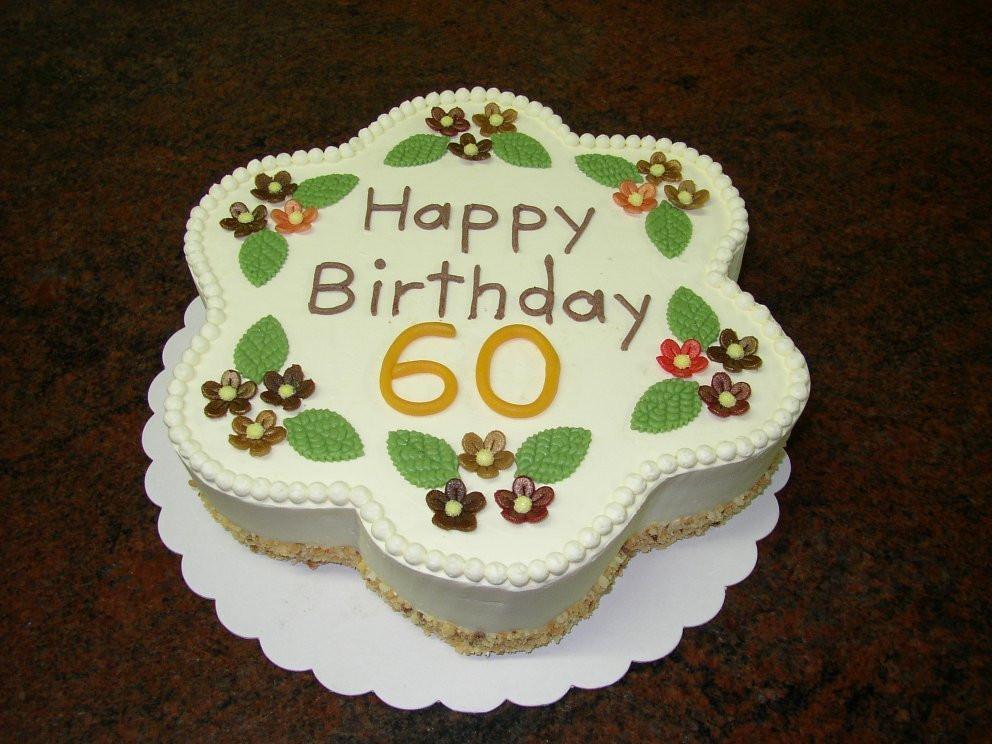 Geburtstagstorte 60  Geburtstagskuchen 60 Geburtstag Geburtstagstorte