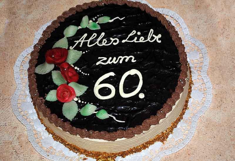 Geburtstagstorte 60  Unsere Sahnestücke Geburtstagstorten