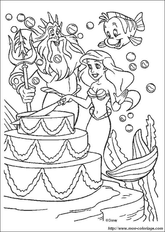 Geburtstagstorte Ausmalbild  Ausmalbilder Die Meerjungfrau bild geburtstagstorte