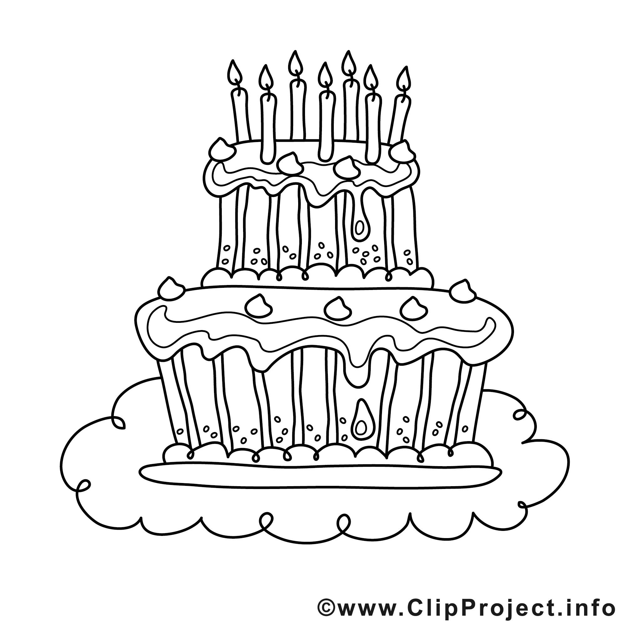 Geburtstagstorte Ausmalbild  Ausmalbilder kuchen kostenlos Malvorlagen zum ausdrucken