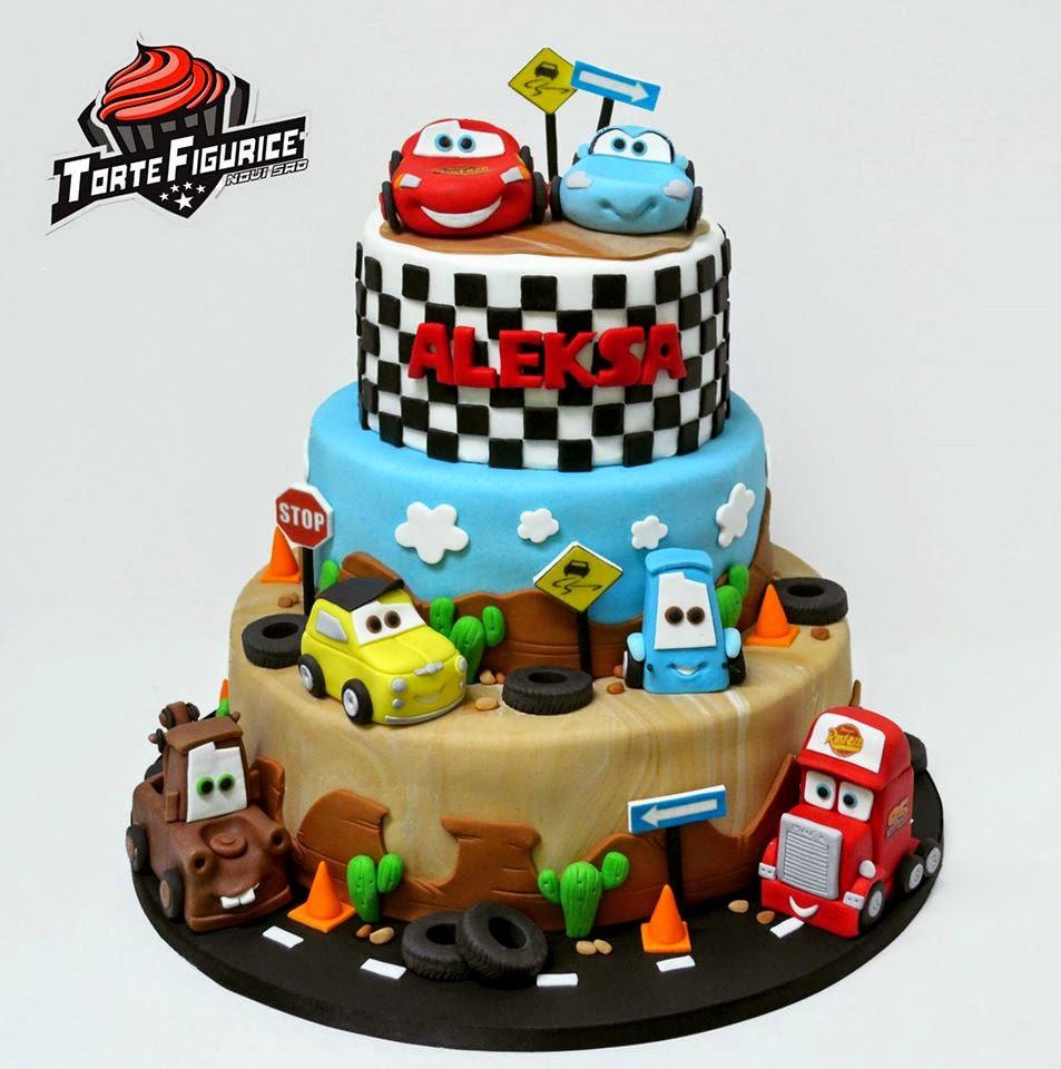Geburtstagstorte Auto  Torte i slatkiši Munja Mekvin torte Cars torte