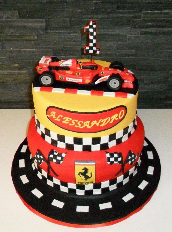 Geburtstagstorte Auto  Torte Spettacolari Kuchendeko Pinterest