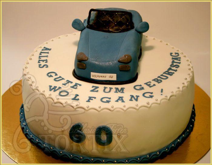 Geburtstagstorte Auto  Tortix Torte mit Auto