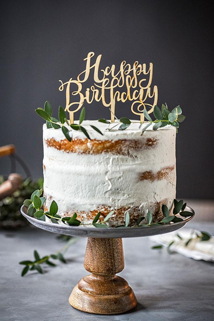 Geburtstagstorte  Geburtstagstorte Apfel Apfeltorte mit Sahne & Geburtstag
