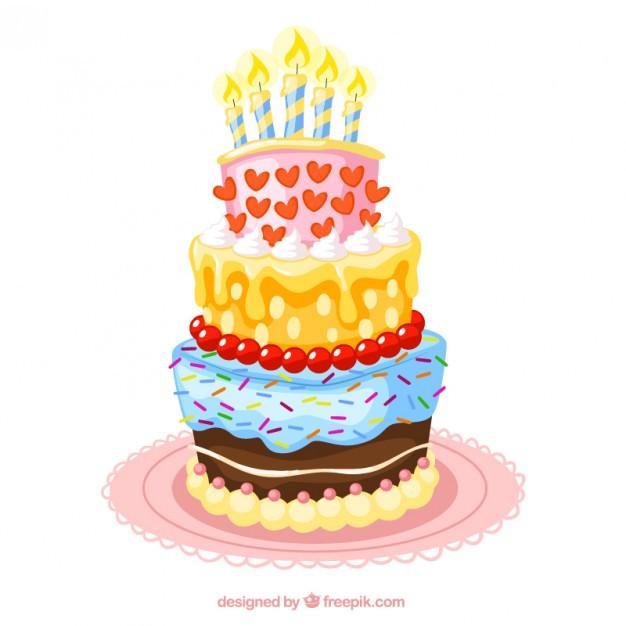 Geburtstagstorte Gezeichnet  Geburtstagstorte