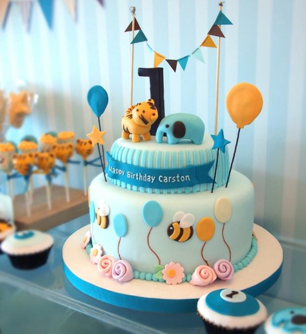 Geburtstagstorte Kinder Junge  Ideen für Motivtorten 55 Kuchen für Babys 1 Geburtstag