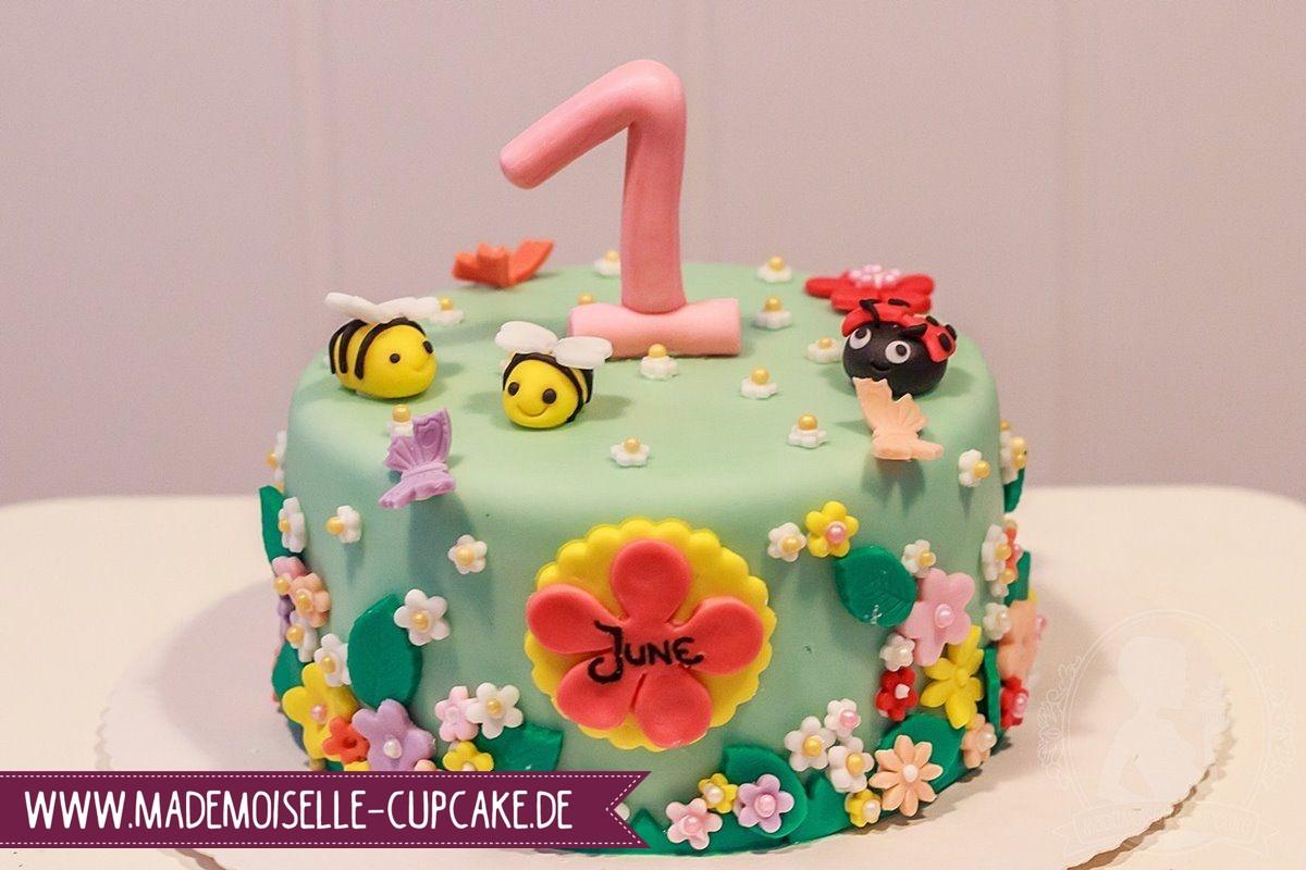 Geburtstagstorte Zum 1 Geburtstag  Kindergeburtstag Mademoiselle Cupcake