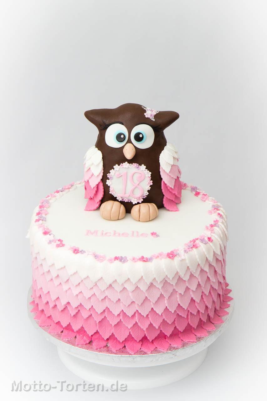 Geburtstagstorte Zum 1 Geburtstag  Geburtstagstorte zum 18 Geburtstag mit Eule