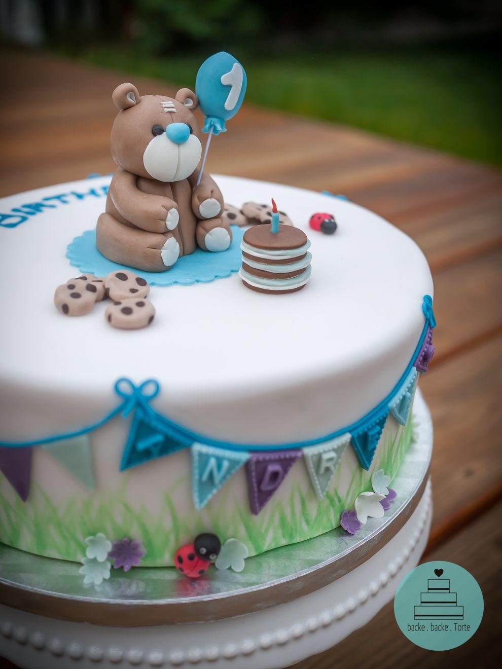 Geburtstagstorte Zum 1 Geburtstag  Motivtorte zum 1 Geburtstag Motivtorte