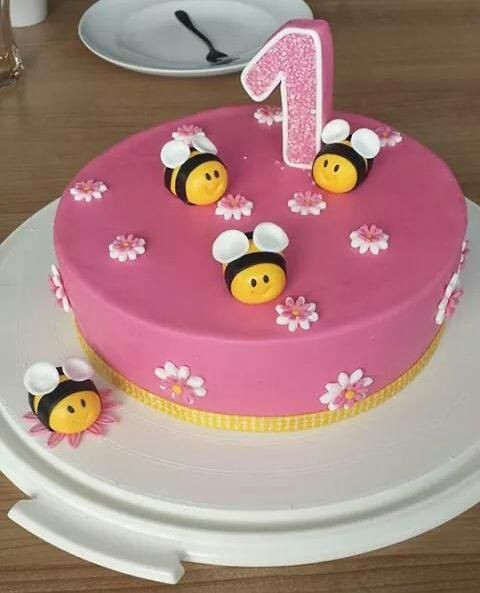 Geburtstagstorte Zum 1 Geburtstag  Geburtstagstorte 1 Geburtstag Mädchen Geburtstagstorte