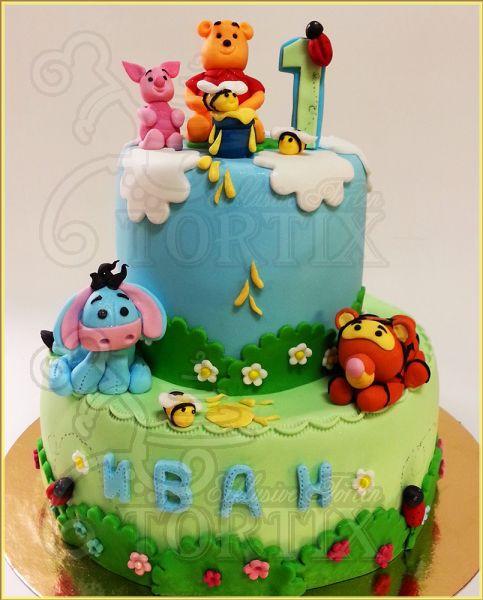 Geburtstagstorte Zum 1 Geburtstag  Tortix Kindertorte mit Lieblingsfiguren zum 1 Geburtstag