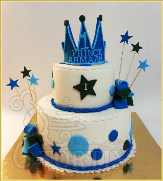 Geburtstagstorte Zum 1 Geburtstag  Tortix Torte zum 1 Geburtstag für einen kleinen Prinzen
