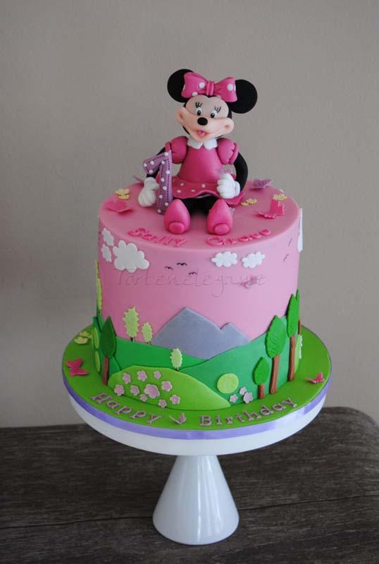 Geburtstagstorte Zum 1 Geburtstag  Minnie Maus Torte zum 1 Geburtstag Torteneleganz