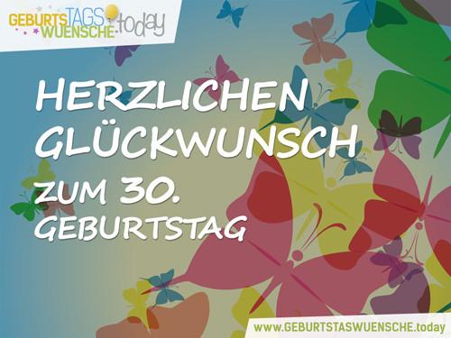 Geburtstagswünsche 30  Lustige Sprüche und schöne Glückwünsche zum 30 Geburtstag