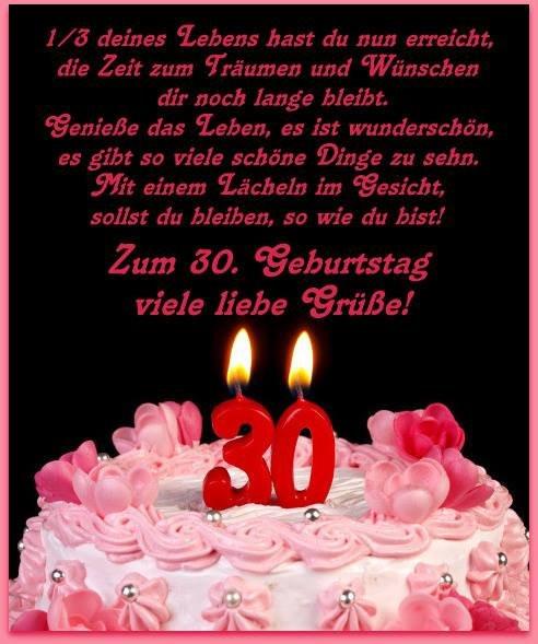 Geburtstagswünsche 30 Jahre  5 Bilder mit dem Tag 30 Alles Liebe zum Geburtstag