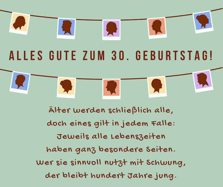 Geburtstagswünsche 30 Jahre  Geburtstagssprüche und Zitate jubiläum gratulation