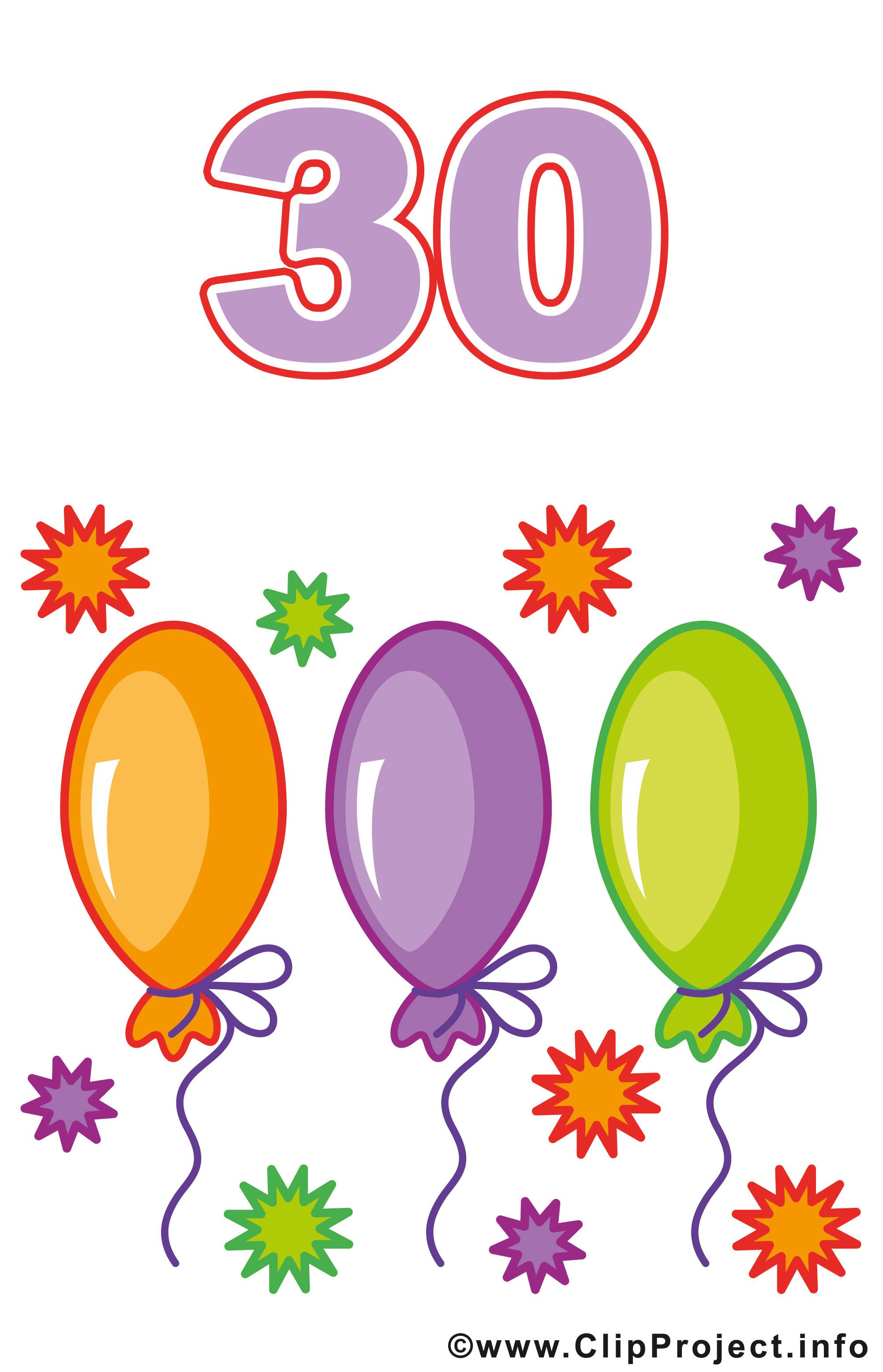Geburtstagswünsche 30 Jahre  30 Geburtstag Bilder Clipart
