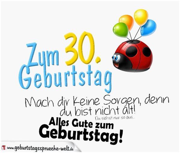 Geburtstagswünsche 30 Jahre  Glückwünsche zum 30 Geburtstag • Geburtstagssprüche 30