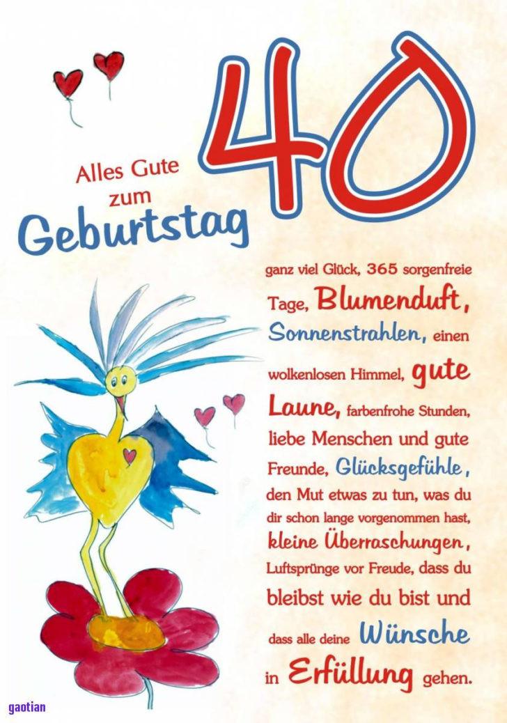 Geburtstagswünsche 40 Frau  Geburtstagsgrüße Zum 40 Geburtstag Frau droitshumainsfo