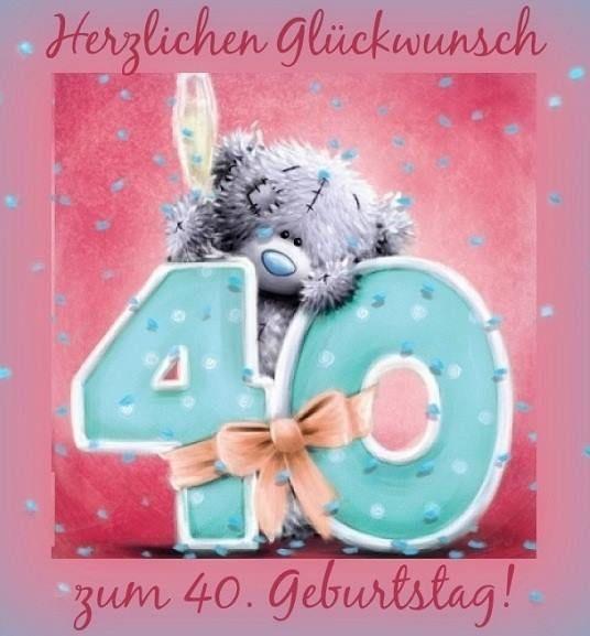 Geburtstagswünsche 40. Geburtstag  25 best ideas about Glückwünsche Zum 40 Geburtstag on