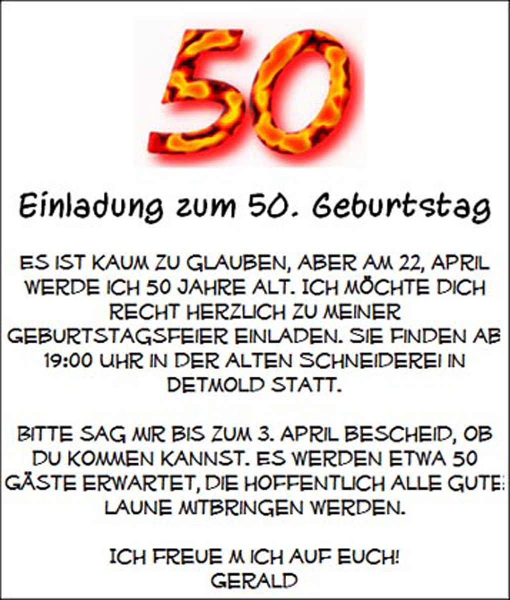 Geburtstagswünsche 50 Geburtstag  50 Geburtstag Einladung