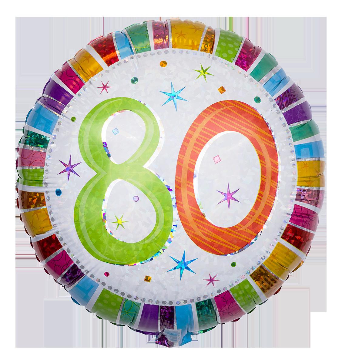 Geburtstagswünsche 80 Geburtstag  Zum 80 Zahlen Ballon verschicken