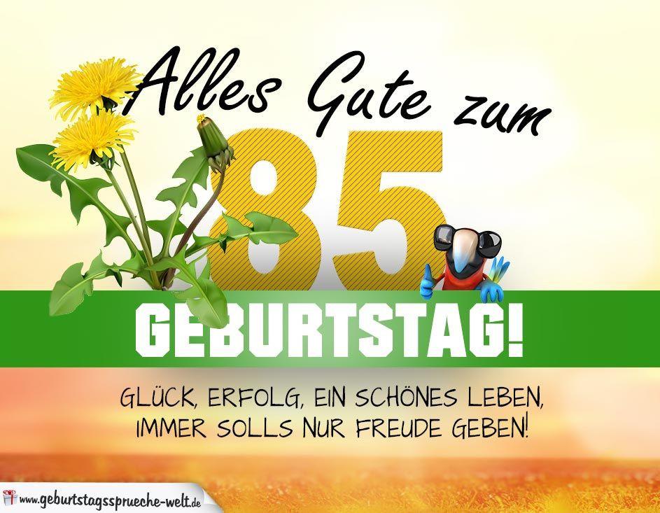 Geburtstagswünsche 85  85 Geburtstag Geburtstagskarte ALLES GUTE mit schönem