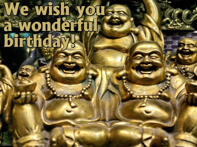 Geburtstagswünsche Buddha  kostenlose Grusskarte zum Geburtstag selber drucken