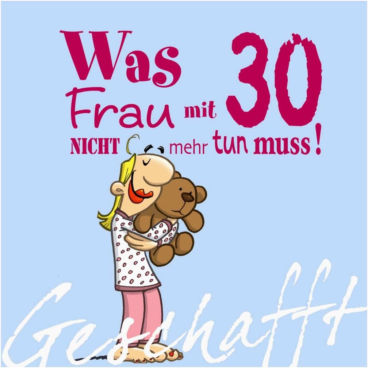 Geburtstagswünsche Frauen Lustig  geburtstag 30 frau spruch Fabelhaft Alles Gute Zum 30