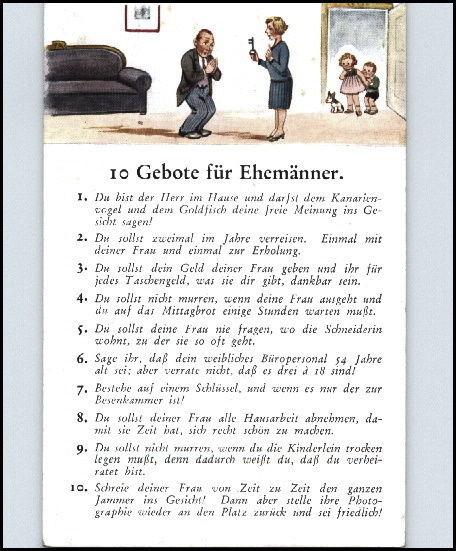 """Geburtstagswünsche Für Den Ehemann  Künstler AK 1920 30 Liebe & Romantik """"10 Gebote für"""