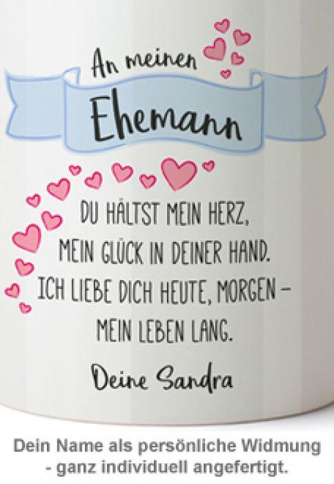 Geburtstagswünsche Für Den Ehemann  Personalisierte Tasse Liebesgedicht Ehemann mit Widmung