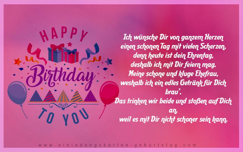 Geburtstagswünsche Für Den Partner  Geburtstagswünsche Für Frauen Einladungskarten zum