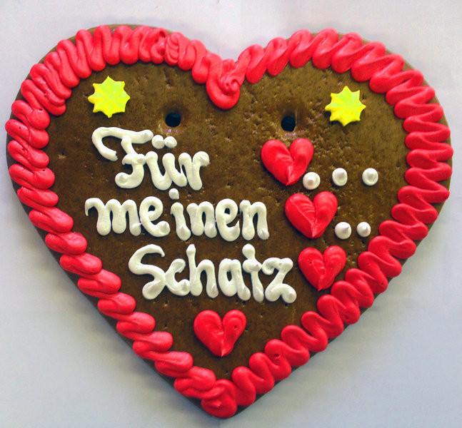 Geburtstagswünsche Für Den Schatz  Lebkuchenherz Für meinen Schatz Lebkuchenherzen