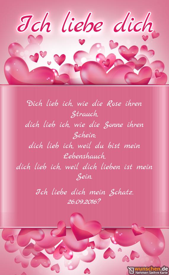 Geburtstagswünsche Für Den Schatz  Ich liebe dich mein Schatz Fertig valentinstag karte
