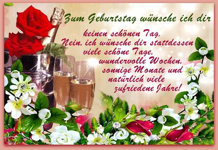 Geburtstagswünsche Für Frauen Kostenlos  GeburtstagsBilder Geburtstagskarten und