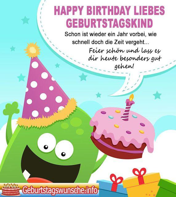 Geburtstagswünsche Für Karte  Geburtstagswünsche für Kinder