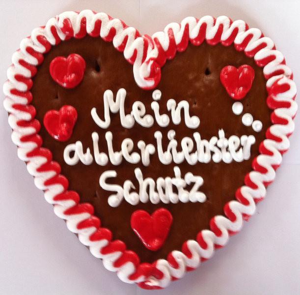 Geburtstagswünsche Für Mein Schatz  Lebkuchenherz allerliebster Schatz Lebkuchenherz Liebe